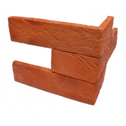 Płytka ceglana Rustykalna- rustykalna płytka z cegły na ścianę - kominek z cegły