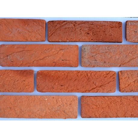 Płytka ceglana Rustykalna - rustykalna płytka z cegły na ścianę - zdjęcie wykonanej ściany z cegły