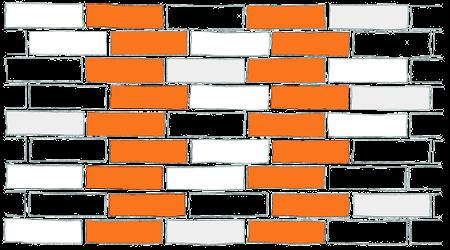 Wiązanie wozówkowe z przesunieciem o 1/4 cegły