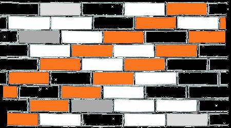 Wiązanie wozówkowe z przesunieciem o 1/4 cegły - skośne
